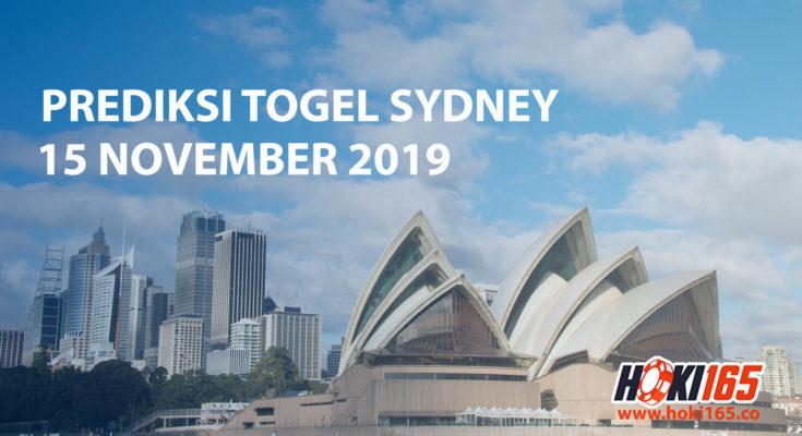 Prediksi Togel Sydney 15 November 2019