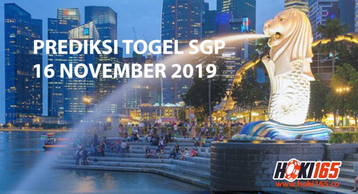 Prediksi Togel SGP 16 November 2019