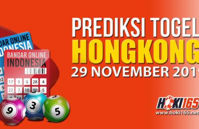 Prediksi Keluaran Hongkong 29 November 2019 paling jitu