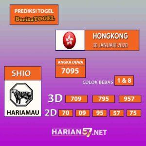 Prediksi Nomor Togel Hongkong 30 Januari 2020