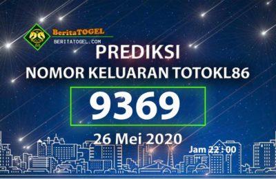 Prediksi Nomor TotoKL86 Jam 22:00 26 Mei 2020