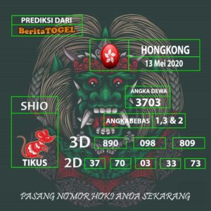 Angka Prediksi Hongkong jitu 13 Mei