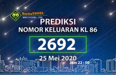 anPrediksi Angka Toto KL 86 Jam 23:00 25 Mei 2020