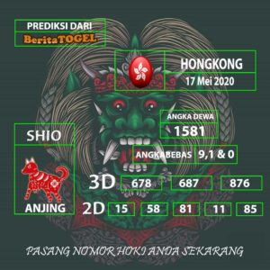 Prediksi Angka Hongkong 17 Mei 2020 Tembus 2D