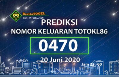 Beritatogel | Angka Main TotoKL86 20 Juni 2020