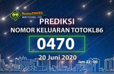 Beritatogel | Angka Main TotoKL86 20 Juni 2020