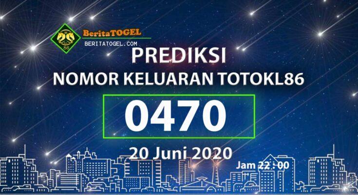 Beritatogel   Angka Main TotoKL86 20 Juni 2020