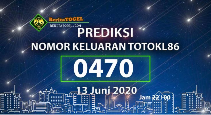 Beritatogel | Prediksi Angka TotoKL86 13 Juni 2020 jam 22:00
