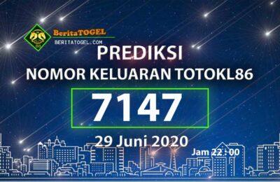 Beritatogel | Prediksi Angka TotoKL86 29 Juni 2020 jam 22:00