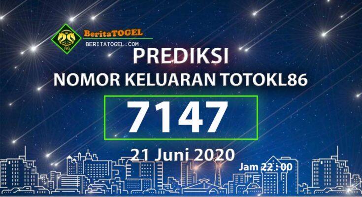 Beritatogel | Prediksi Main TotoKL86 21 Juni 2020 jam 22:00