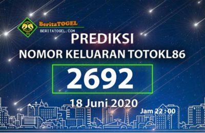 Beritatogel | Prediksi TotoKL86 Tembus 2D 18 Juni 2020 jam 22:00