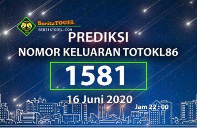 Beritatogel | Prediksi TotoKL86 Tembus 2D 16 Juni 2020 jam 22:00