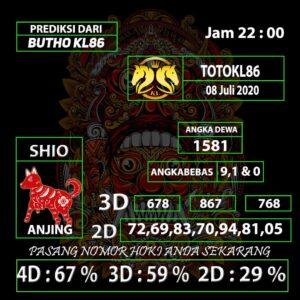 Gajitoto | Angka Main TotoKL86 Tembus 08 Juli 2020