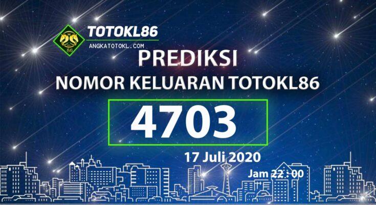 Beritatogel   Nomor Main TotoKL86 Jitu 17 Juli 2020