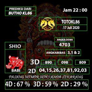 Gajitoto   Nomor Main TotoKL86 Jitu 17 Juli 2020