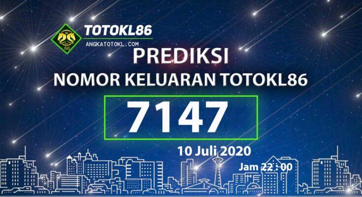 Beritatogel | Prediksi Angka Main TotoKL86 Jitu 10 Juli 2020