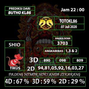 Gajitoto | Prediksi Angka TotoKL86 Tembus Jitu 07 Juli 2020
