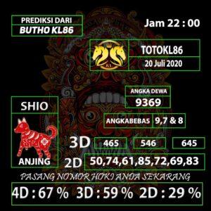 Gajitoto | Prediksi Main TotoKL86 20 Juli 2020