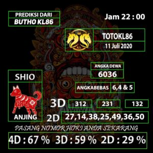 Gajitoto   Prediksi Main TotoKL86 Tembus 11 Juli 2020