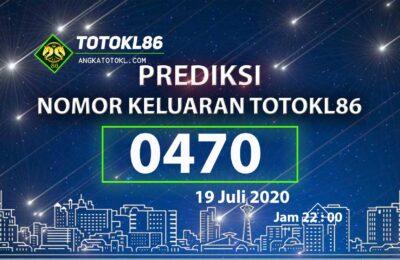 Beritatogel | Prediksi No Main TotoKL86 Ampuh 19 Juli 2020