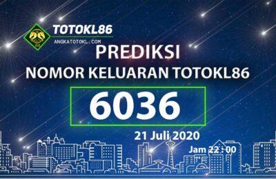 Beritatogel | Prediksi No TotoKL86 21 Juli 2020 jam 22: 00