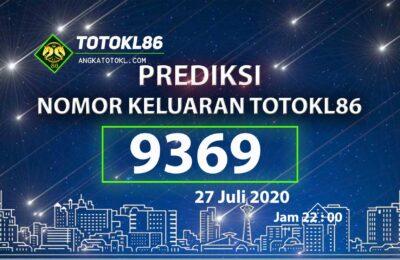 Beritatogel | Prediksi Nomor Main TotoKL86 27 Juli 2020
