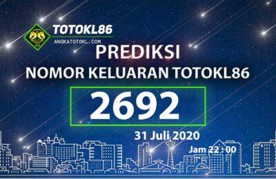 Beritatogel | Prediksi Nomor Main TotoKL86 31 Juli 2020 jam