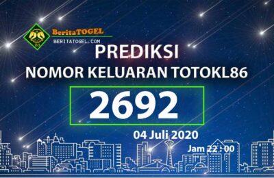 Beritatogel | Prediksi TotoKL86 Tembus 2D 04 Juli 2020
