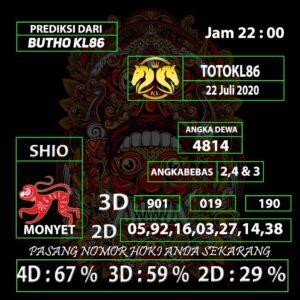 Gajitoto | Prediksi TotoKL86 Tembus 2D 22 Juli 2020
