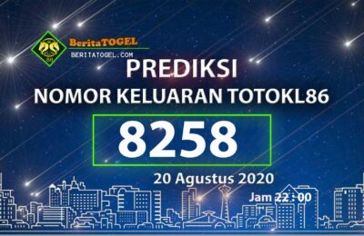 Beritatogel | Angka Main TotoKL86 Jitu 20 Agustus 2020