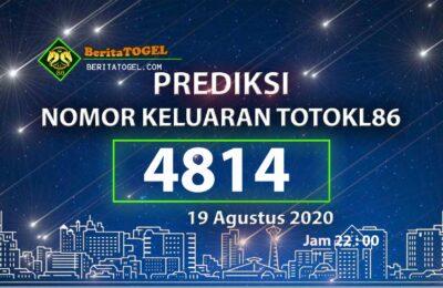Beritatogel | Prediksi 19 Agustus 2020 TotoKL86