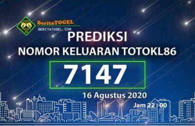 Beritatogel | Prediksi Angka TotoKL86 16 Agustus 2020