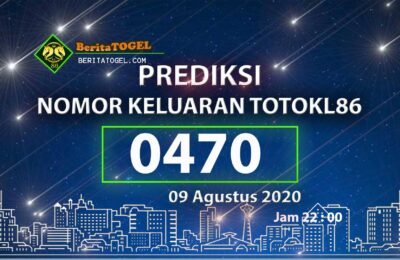 Beritatogel | Prediksi Nomor TotoKL86 09 Agustus 2020