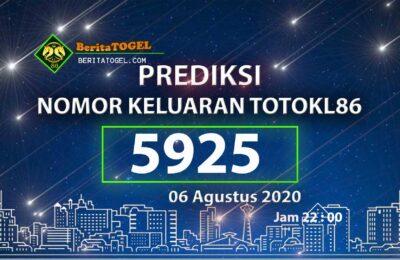Beritatogel | Prediksi Toto KL86 Online 06 Agustus 2020