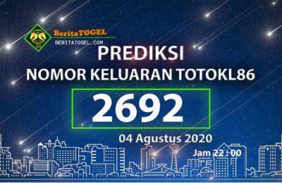 Beritatogel | TotoKl86 Online 04 Agustus 2020 Tembus 2D